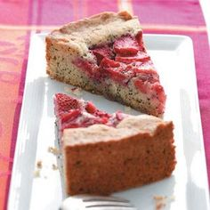 Strawberry Poppy Seed Cake Recipe from Taste of Home