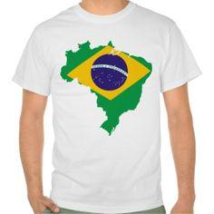 brazil flag map tee shirts