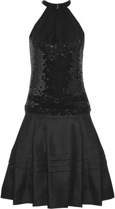 Roberto Cavalli - Black Embellished Jersey and Organzatwill Dress - Lyst 8789e0ce2