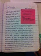 Beautiful Reading Notebook ideas, lots of good examples of using post-it's as a starting point for deeper thinking and analysis.