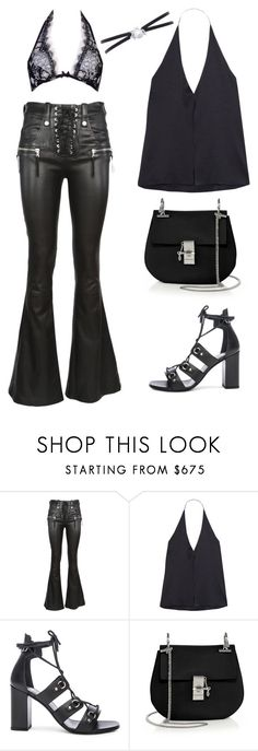 """""""Untitled #1889"""" by kellawear on Polyvore featuring Haney, Yves Saint Laurent, Chloé and Agent Provocateur"""