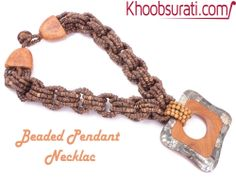 #Online_Shopping #Shopping_Online @ Khoobsurati.com Get Upto 20% Off On #Necklaces http://khoobsurati.com/pdt/khoobsurati/pretty-wooden-beaded-pendant-necklace-khoobsurati