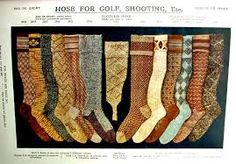 1920s men's hose for golf or shooting. Badly pixilated, but so colorful.