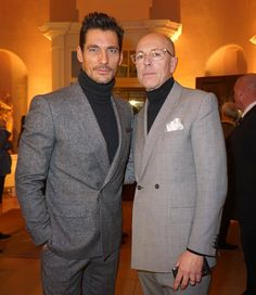And LC:M January 2016 began last night. What better way to start than with a pic with the main man himself Dylan Jones (Chair of #LCM and editor of British GQ). I'm wearing a suit designed by me for 'Best of British' Marks and Spencer. Rollneck also M&S // Photo by Serge Kerbel