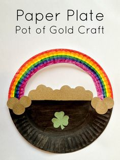 Tutus and Tea Parties: Paper Plate Craft | St. Patrick's Day Pot of Gold
