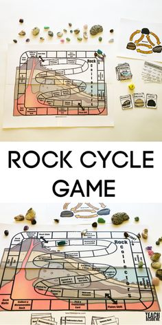 Rock cycle game -geology lesson #geology #rockcycle #naturestudy #nature #rocks