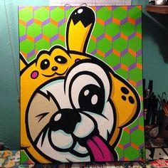 """ Painting of @yogurt_thepirate  Follow the artist: @evokerone  #art #artist  #artbotic #arte #artista"" Photo taken by @artbotic on Instagram, pinned via the InstaPin iOS App! http://www.instapinapp.com (04/06/2015)"