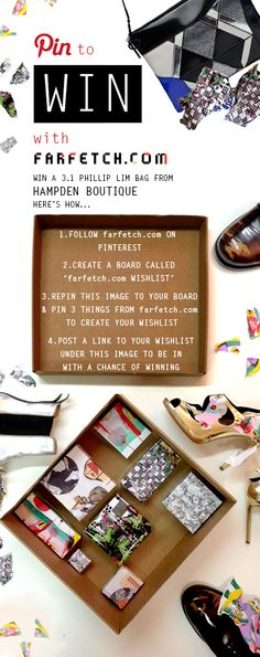 Enter our Pinterest competition now & you can win a 3.1 Phillip Lim bag!
