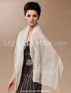 This 100% Handmade Sheer Silk Evening/Wedding Shawl/Wrap is an elegant wrap to pair with your outfit.