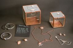 Jewelry from Pendulum. Glass Boxes from House Doctor.  photo: Hey Look / Michaela Egger