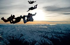 On top of the world - Skydiving in the alps