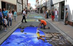 street art so incredible you could mistake it as real. Everything is better with art. Amazing street art that will blow you away. 3d Street Art, Amazing Street Art, Street Art Graffiti, Street Artists, Amazing Art, Graffiti Artwork, Graffiti Lettering, Graffiti Artists, 3d Artwork