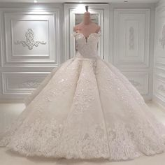 Luxury Shiny Wedding Dresses Sweetheart Princess Lace Rhinestones Bridal Gowns | eBay