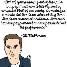 JD McPherson Talks About Music, In Illustrated Form. Illustrations by Jena Ardell for OC Weekly.