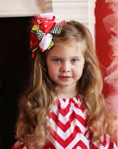 The Hair Bow Company   Christmas Party Marabou Bow