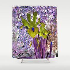 Iris Shower Curtain by Khana's Web - $68.00