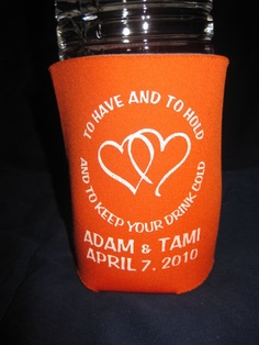 Koozie wedding favors?