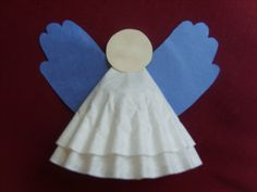 Angel - coffee filters, hands for the wings and also add pipe cleaner for a halo