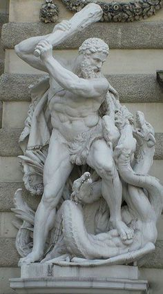Statue of Hercules fighting the hydra.  Hofburg Imperial Palace