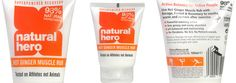 Ginger muscle rub from @NaturalHero - we love it!