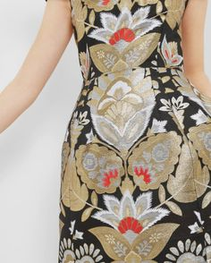 Opulent Orient jacquard dress