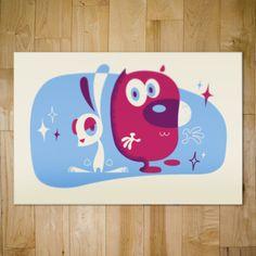 Ren and Stimpy // Bandito Design Co. Cartoon Posters, Atomic Age, Cartoon Styles, Illustration Art, Illustrations, Comic Art, Screen Printing, Character Design, Artsy
