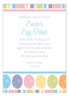 Easter Eggs Invitation #Easter #Egg #Hunt