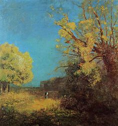 Peyrelebade Landscape - Odilon Redon - c. 1880