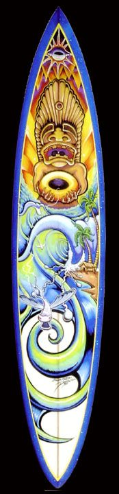 1000 images about hawaiian inspired art work on pinterest for Awesome surfboard designs