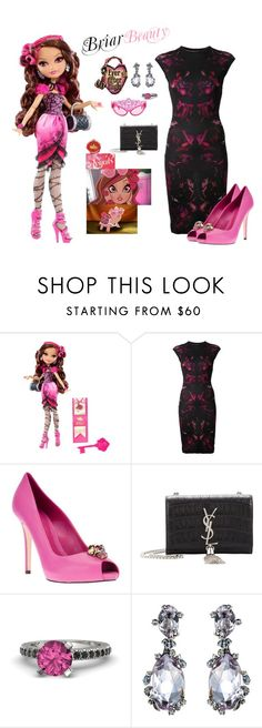 """""""Ever After High Briar Beauty inspired outfit"""" by themistfittoycollector ❤ liked on Polyvore featuring Alexander McQueen, Yves Saint Laurent, Gemvara and Alexis Bittar"""