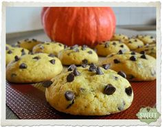 Cookies de calabaza y pepitas de chocolate