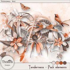 Now my TENDERNESS collection is available in 2 shops! Elements pack of the kit TENDERNESS!!! available at 40% off until february 25. Until 25 February 2017, here: https://www.digitalscrapbookingstudio.com/thaliris-designs/ and http://www.digidesignresort.com/shop/thaliris-designs-m-232