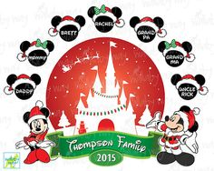 Christmas Disney Family Printable Iron On by TheWallabyWay on Etsy