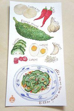 rachel khoo watercolour - Google Search