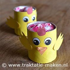 Toilet Paper Roll Crafts - Get creative! These toilet paper roll crafts are a great way to reuse these often forgotten paper products. Toilet Roll Craft, Toilet Paper Roll Crafts, Cardboard Crafts, Paper Crafts, Animal Crafts For Kids, Easter Crafts For Kids, Preschool Crafts, Diy For Kids, Easter Art