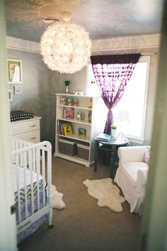 Lavender And White Make A Peaceful Nursery Lilac Bedding Room Decor