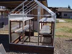And improving the harbor freight greenhouse benches and shelves 6x8 Greenhouse, Greenhouse Benches, Greenhouse Shelves, Greenhouse Supplies, Cheap Greenhouse, Greenhouse Interiors, Backyard Greenhouse, Greenhouse Ideas, Homemade Greenhouse