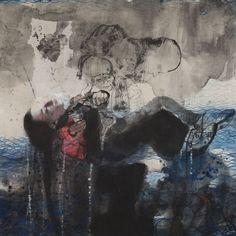 Mare Monstrum: Les peintures poignantes du périple des migrants par une artiste grecque|Georges Ranunkel Samos, Painting, Artist, Painting Art, Paintings, Painted Canvas, Drawings