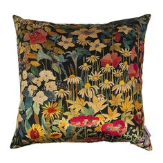 Discover the Liberty of London Faria Flowers Cushion - 60x60cm - Marigold at Amara