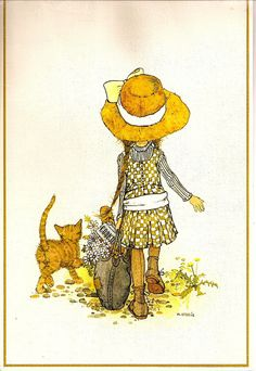 Walk with kitten, yellow