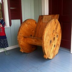 Spool chair! If only I had a giant spool laying around...Oh wait I do!!!