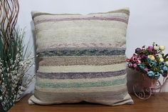 24x24 bohemian cushion kilim pillow turkish kilim pillow sofa #etsy #pillow #handmade