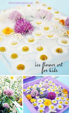 ice flower art for kids Summer Crafts, Kids Crafts, Flower Art, Art For Kids, Activities, Flowers, Diy, Art For Toddlers, Art Floral