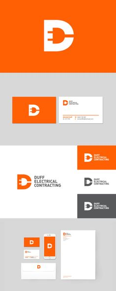 Branding for Duff Electrical by Robot Eats Popcorn. #branding #design…