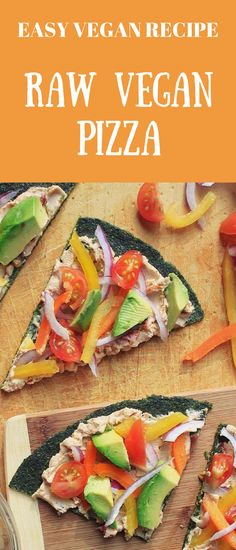 Healthy 5-minute meal idea. Raw Vegan Pizza. Perfect for busy week nights. #rawvegan #rawpizza