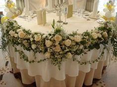 украшение свадебного зала цветами фото