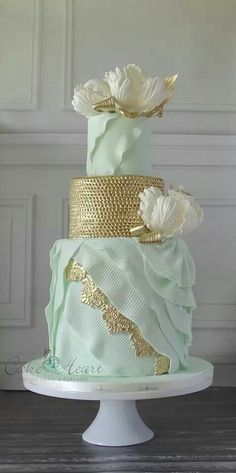 Mint Romance by Cake Heart Custom Cakes  Cupcakes.
