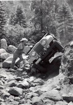 Old Jeep on Rubicon Trail Jeep Cj5, Jeep Truck, Jeep Jeep, Jeep Garage, Jeep Trails, Vintage Jeep, Old Jeep, Offroader, Cool Jeeps