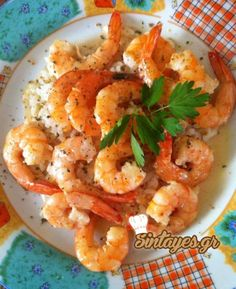Greek Recipes, Fish And Seafood, Shrimp, Meals, Low Calories, Drink, Beverage, Meal, Greek Food Recipes