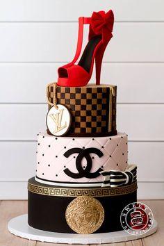 Luxury designer brands cake Louis Vuitton Michael Kors and Channel